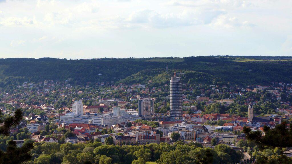 Panorama vom Zentrum Jenas